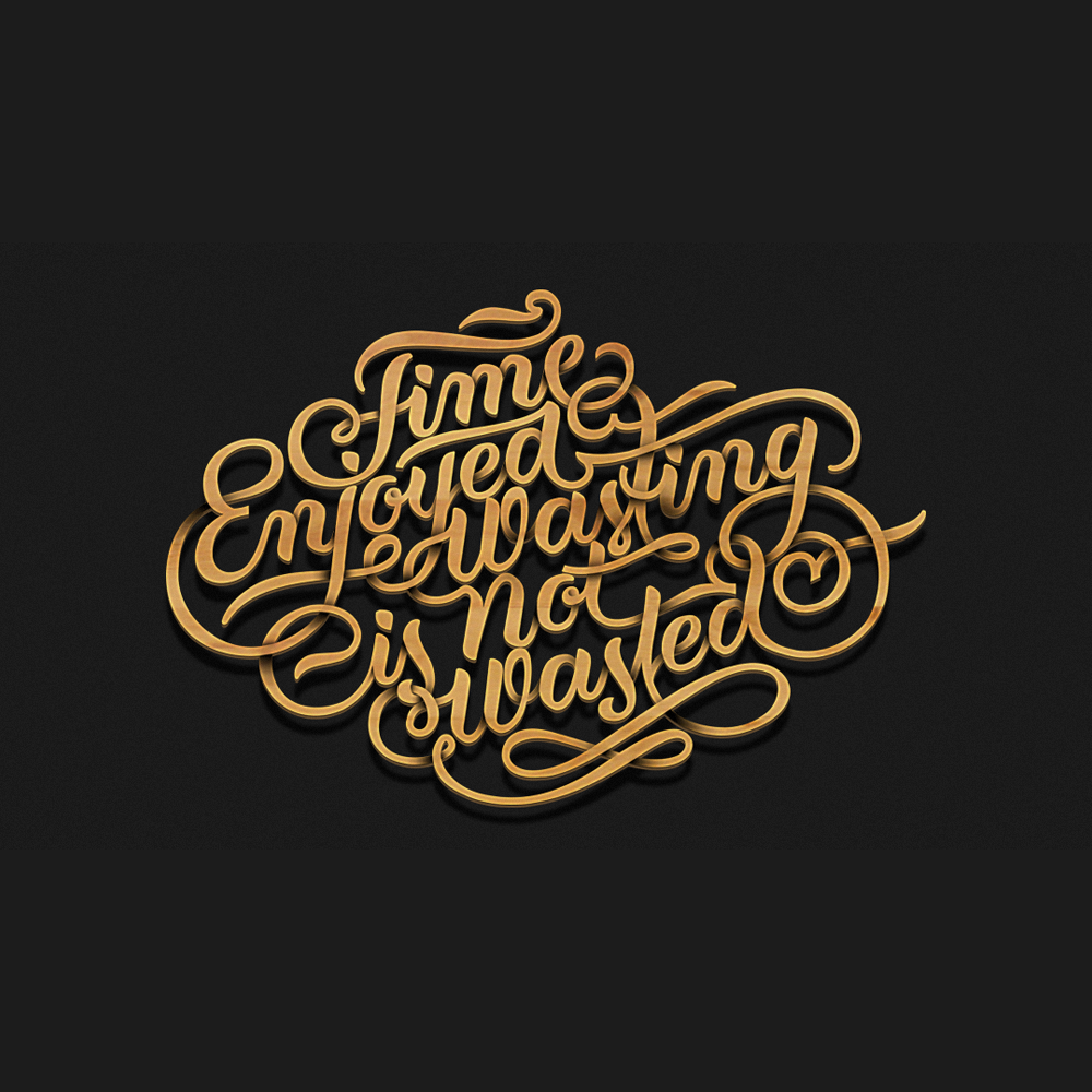 Time Enjoyed Wasting is not wasted. This is the initial design of the type that I made for 40 days of dating. … | Chalkboard typography ...