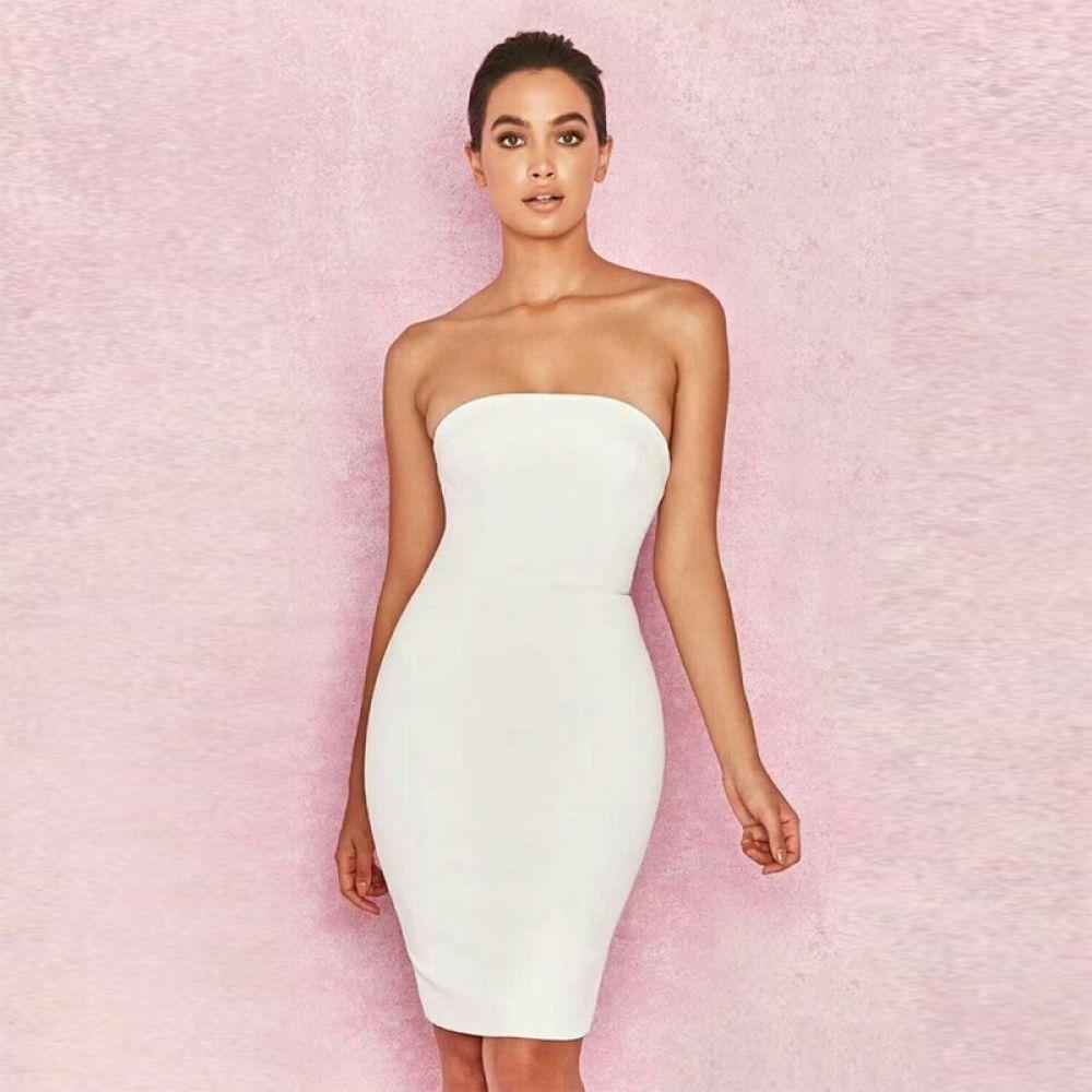Strapless Backless Sleeveless Bodycon Dresses 2