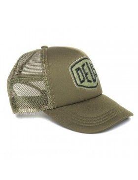 DEUS Trucker pet Felt Shield - olive Deus Ex Machina 0d086e7d739