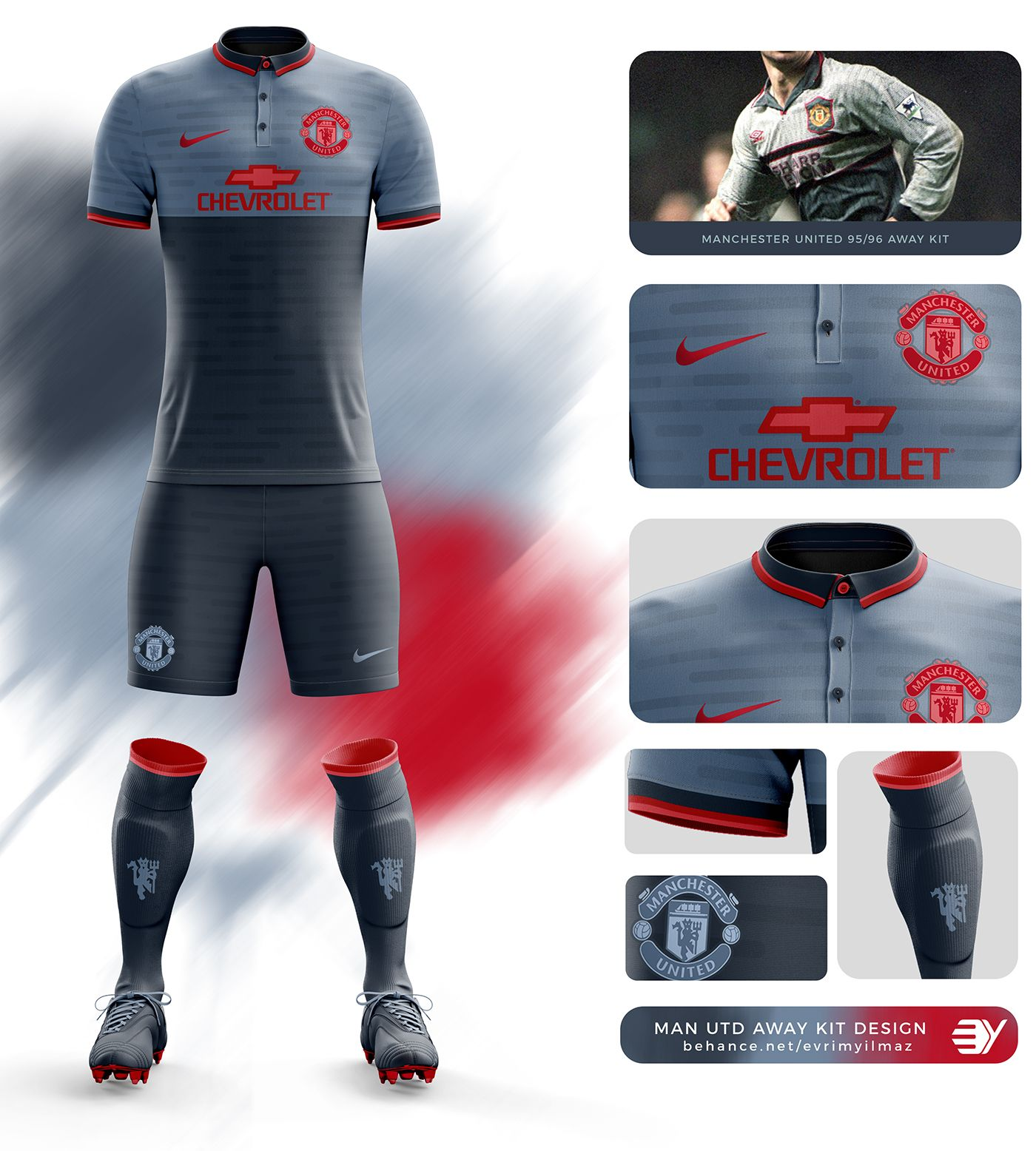 Manchester United Away Kit Design On Behance Manchester United Away Kit Manchester United Logo Sport Shirt Design