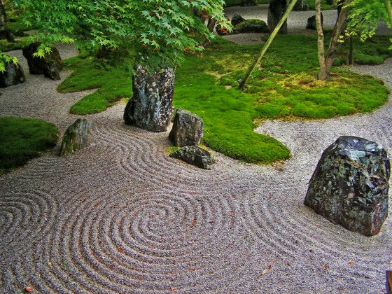Japanese rock garden zen japanese gardens pinterest Pictures of zen rock gardens