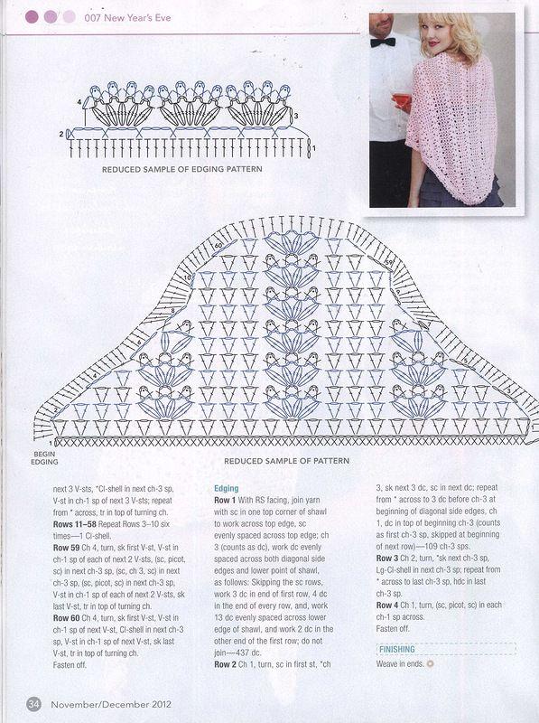 Head Turning Shawl Crochet Pattern | Pinterest