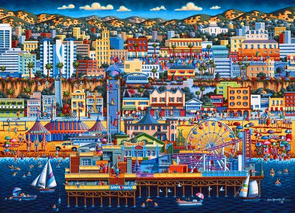 Dowdle Jigsaw Puzzle 1000 Piece Dowdle Folk Art Los Angeles