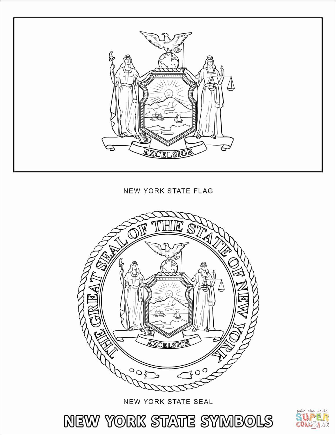 Connecticut Flag Coloring Page Elegant New York State