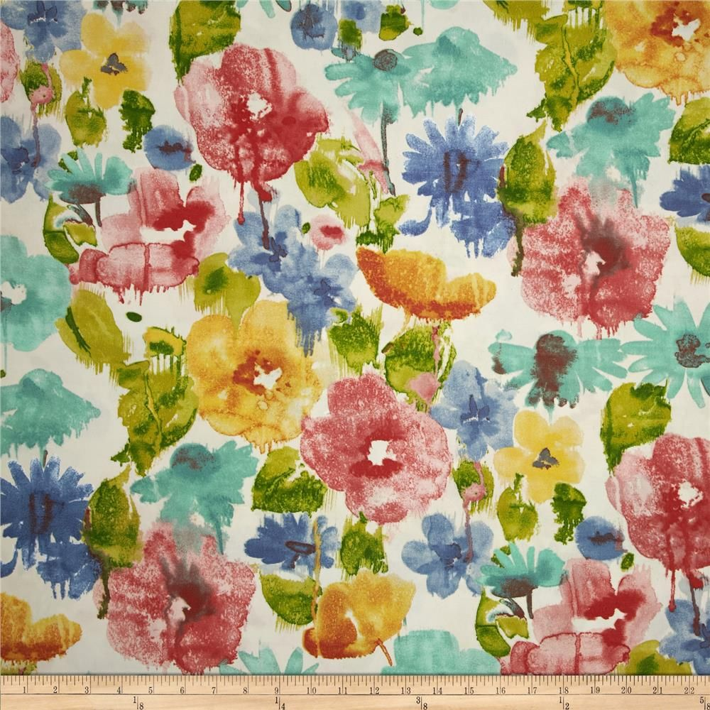 This indoor/outdoor fabric is stain and water resistant, very family ...