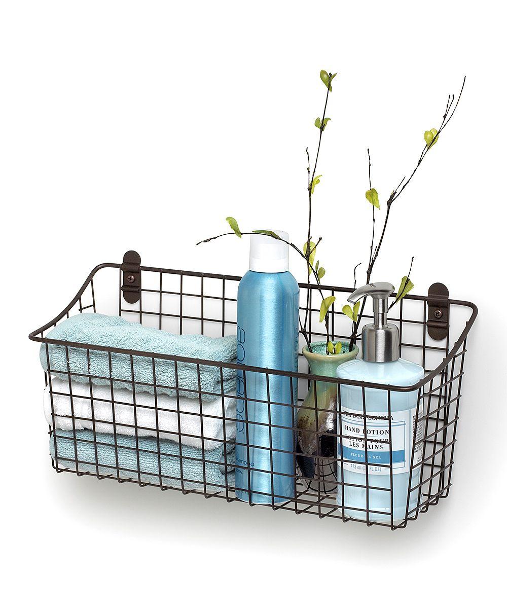 15.25\'\' Vintage-Inspired Wall Mount Basket | Bathroom | Pinterest ...