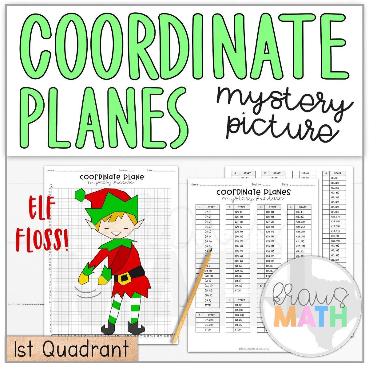Elf Floss Dance Coordinate Plane Activity 1st Quadrant