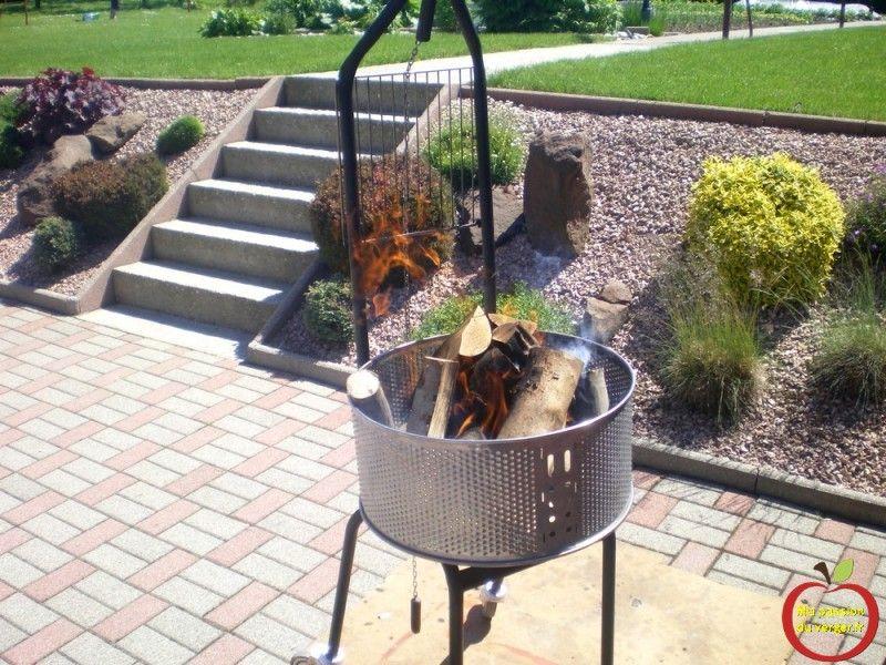 Kanuk Grille de barbecue d'extérieur en fonte: