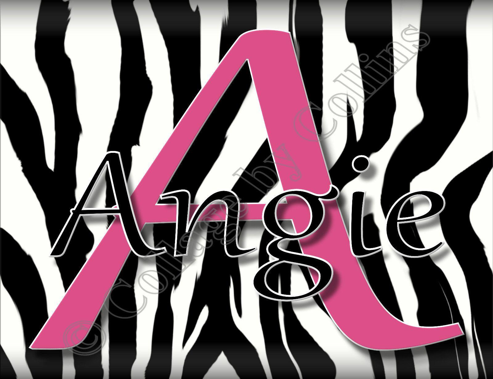 Personalized Name Word Poster Print Zebra Wall Art Girl