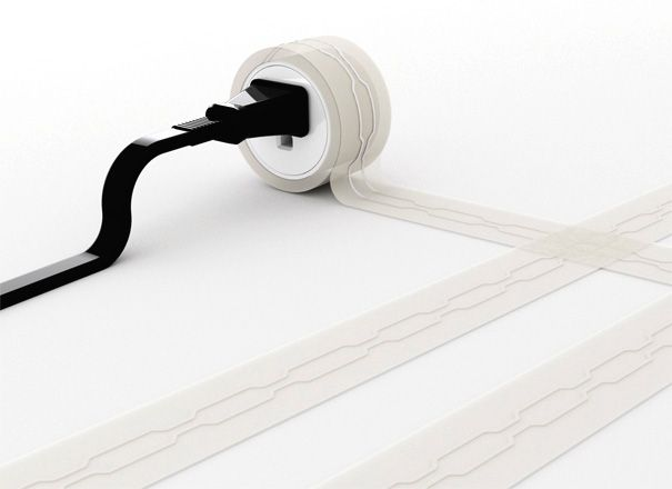 post line flat extension cord for under carpet   cool stuff