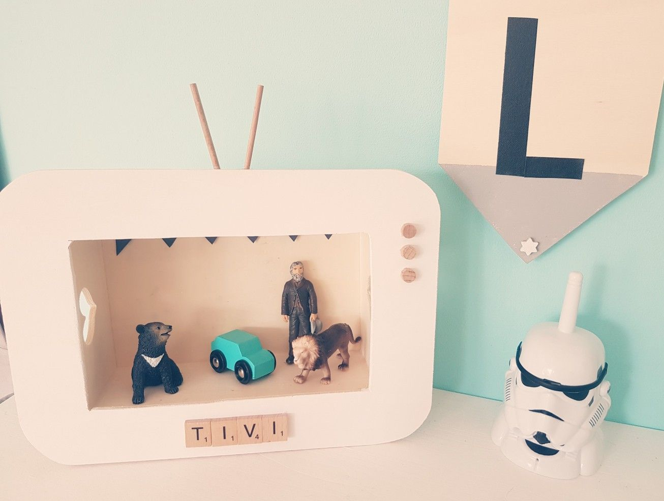 #Kinder TV, DiY, Holzbox, Kinderzimmer#