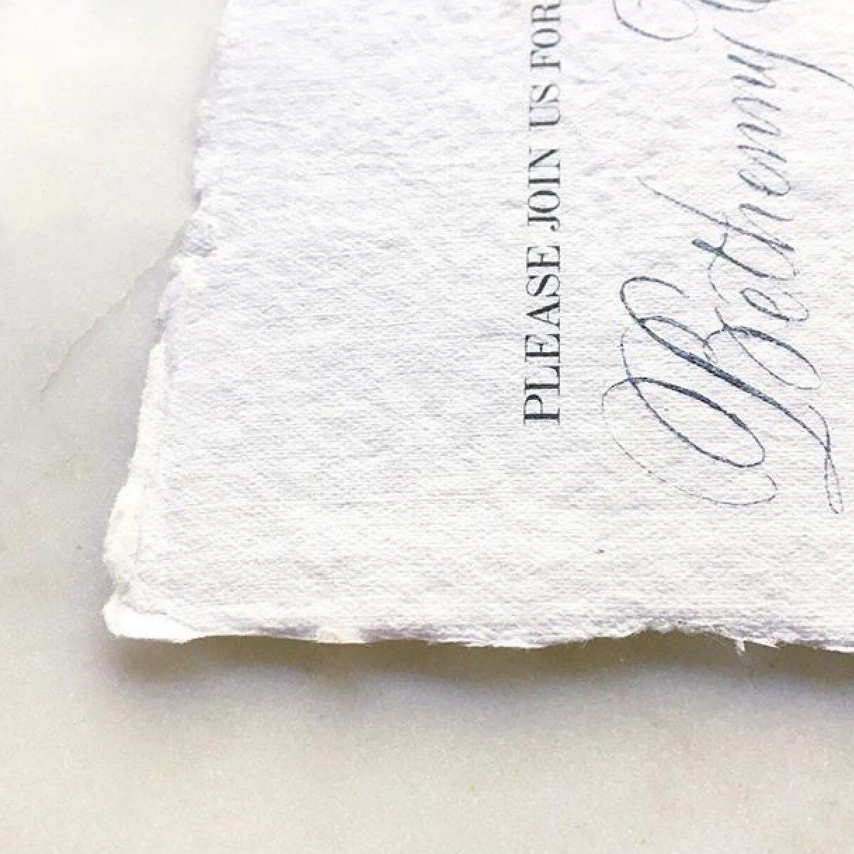 Inkjet printing at home with these deckled edges? Yes she did! Joni Hunt of Bienfait Calligraphy mixed desktop printing with her beautiful calligraphy for stunning invitations.  Try a sample pack today!