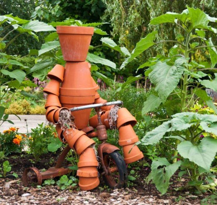 Decoration Avec Des Pots En Terre Cuite