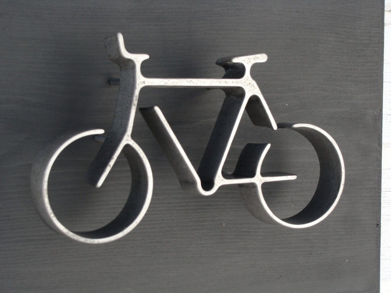 Metal Bike Wall Art Hanging Bicycle Home Office Kids Room Decor Groomsman Gift Modern Black And Silver 45 00 Via Etsy