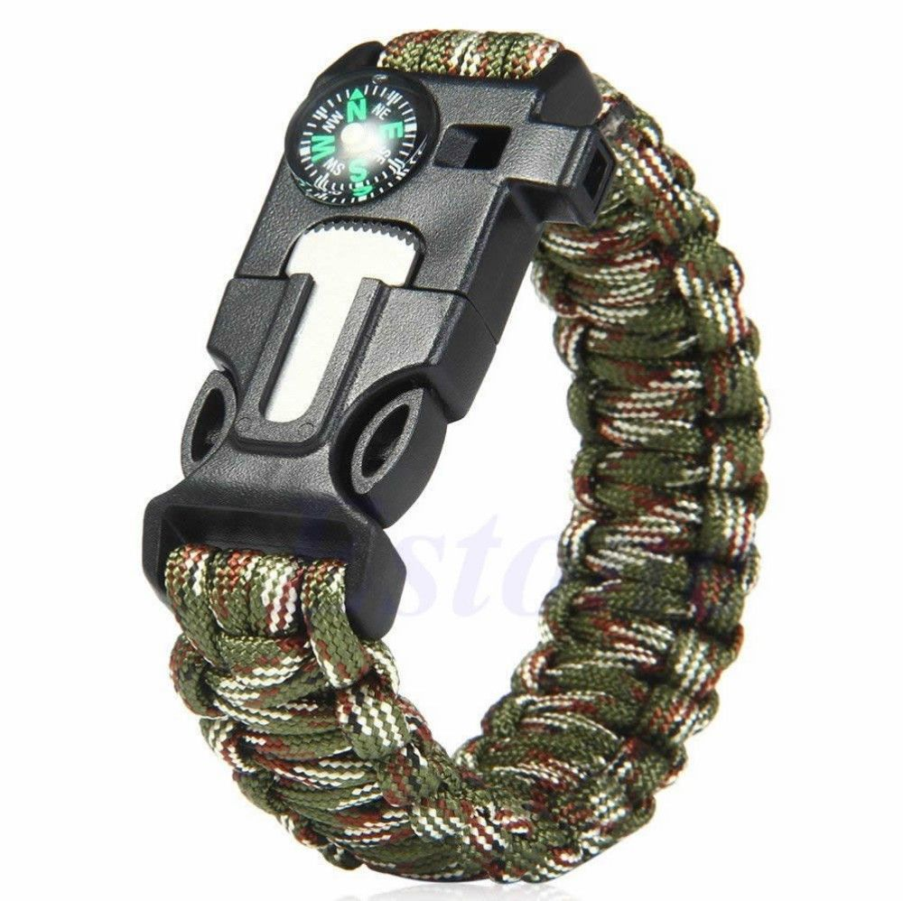 Paracord 5 in 1 survival bracelet these 5 in 1 paracord