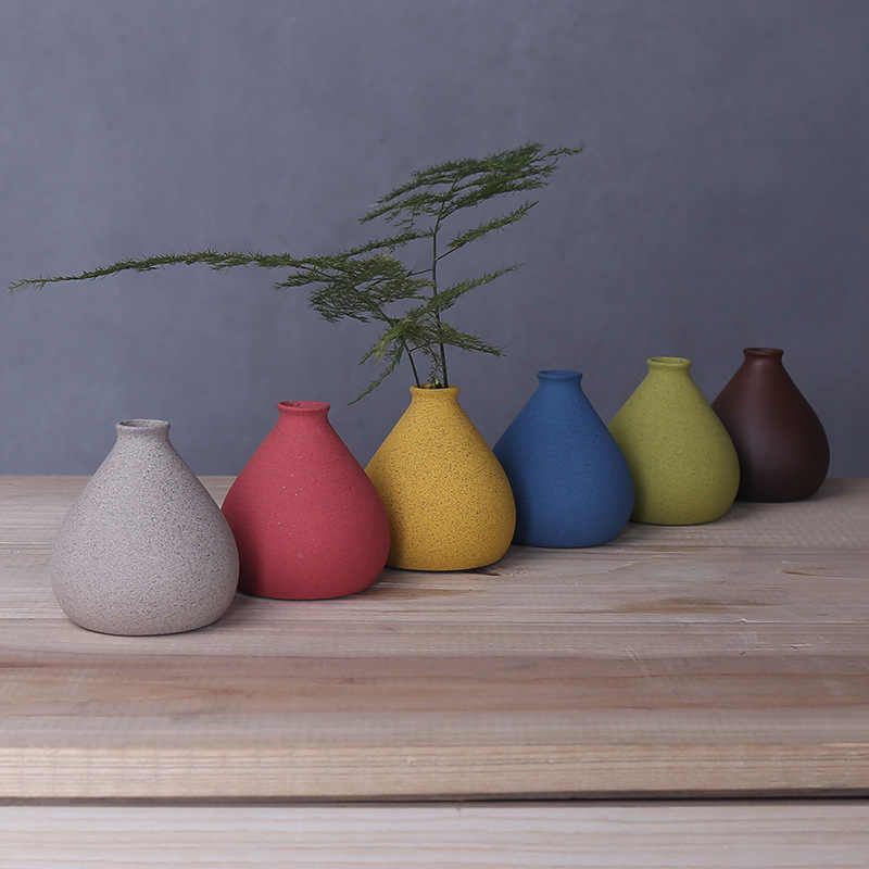 Creative home small sized color flower vase decorative