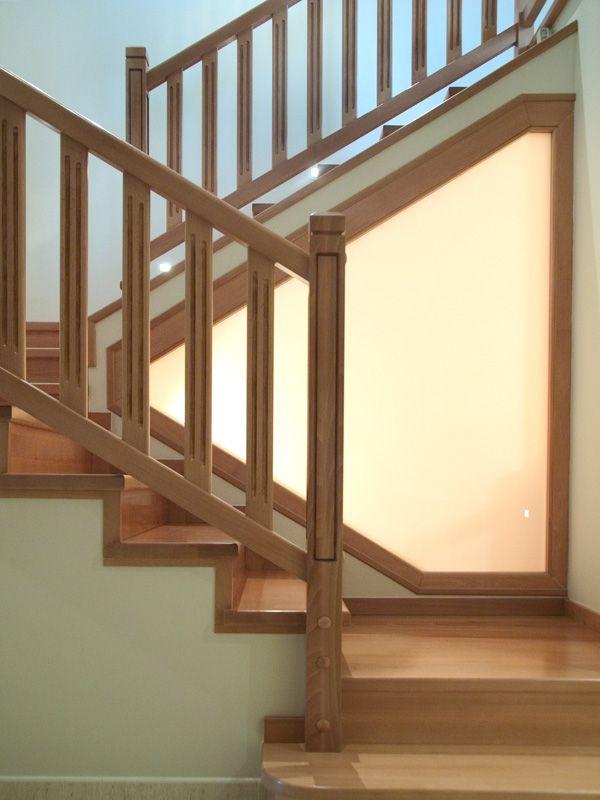 Torneados fuentespalda barandillas y escaleras de madera forja hierro acero inoxidable y - Barandilla escalera interior ...