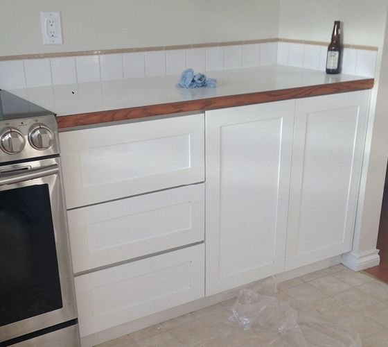 Refinishing Melamine Kitchen Cabinets: Melamine Cabinet Update