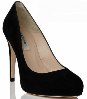 LK BENNETT LONDON patent navy blue peep toe heels | Blue