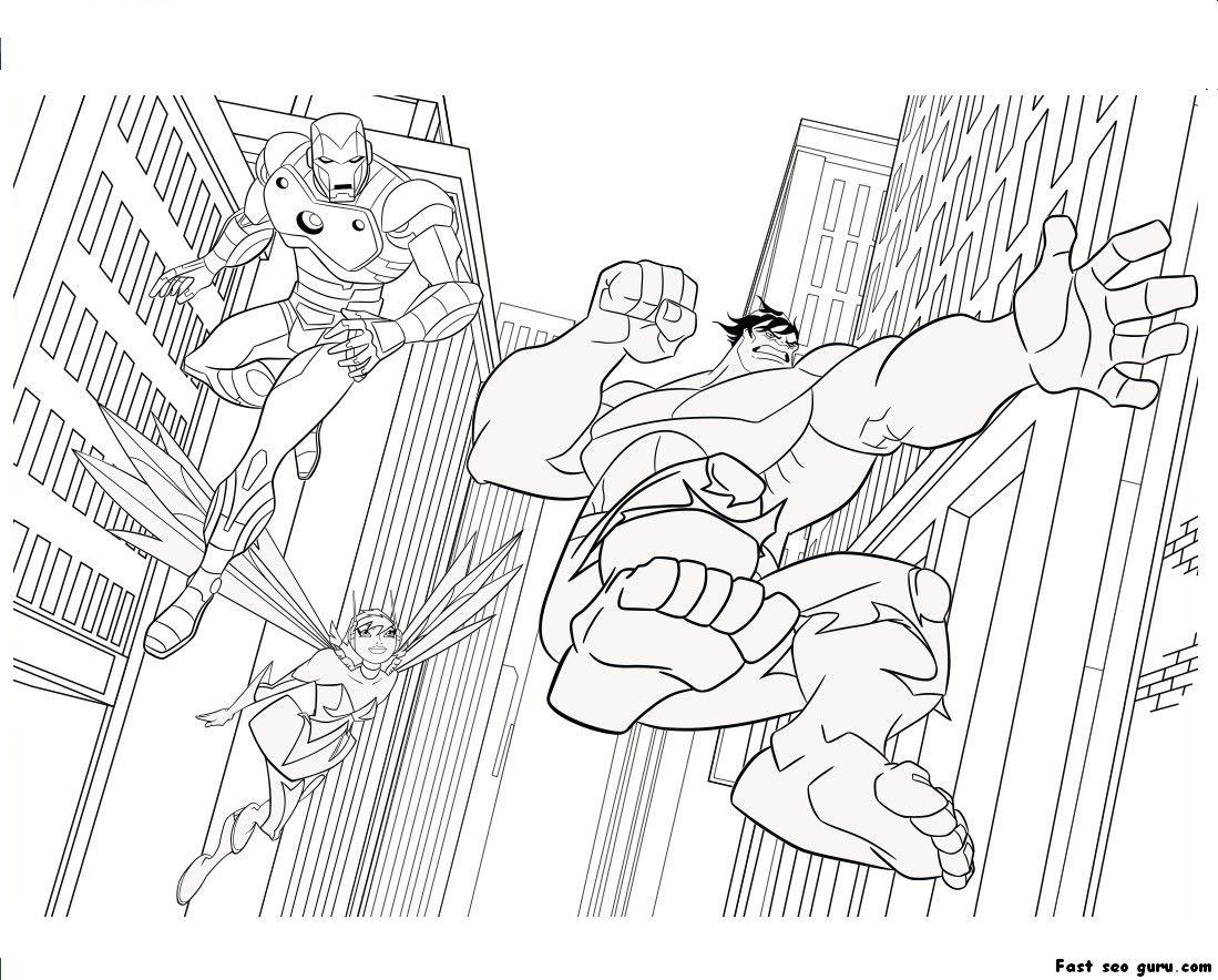 Iron Man - Hulk | Coloring pages | Pinterest