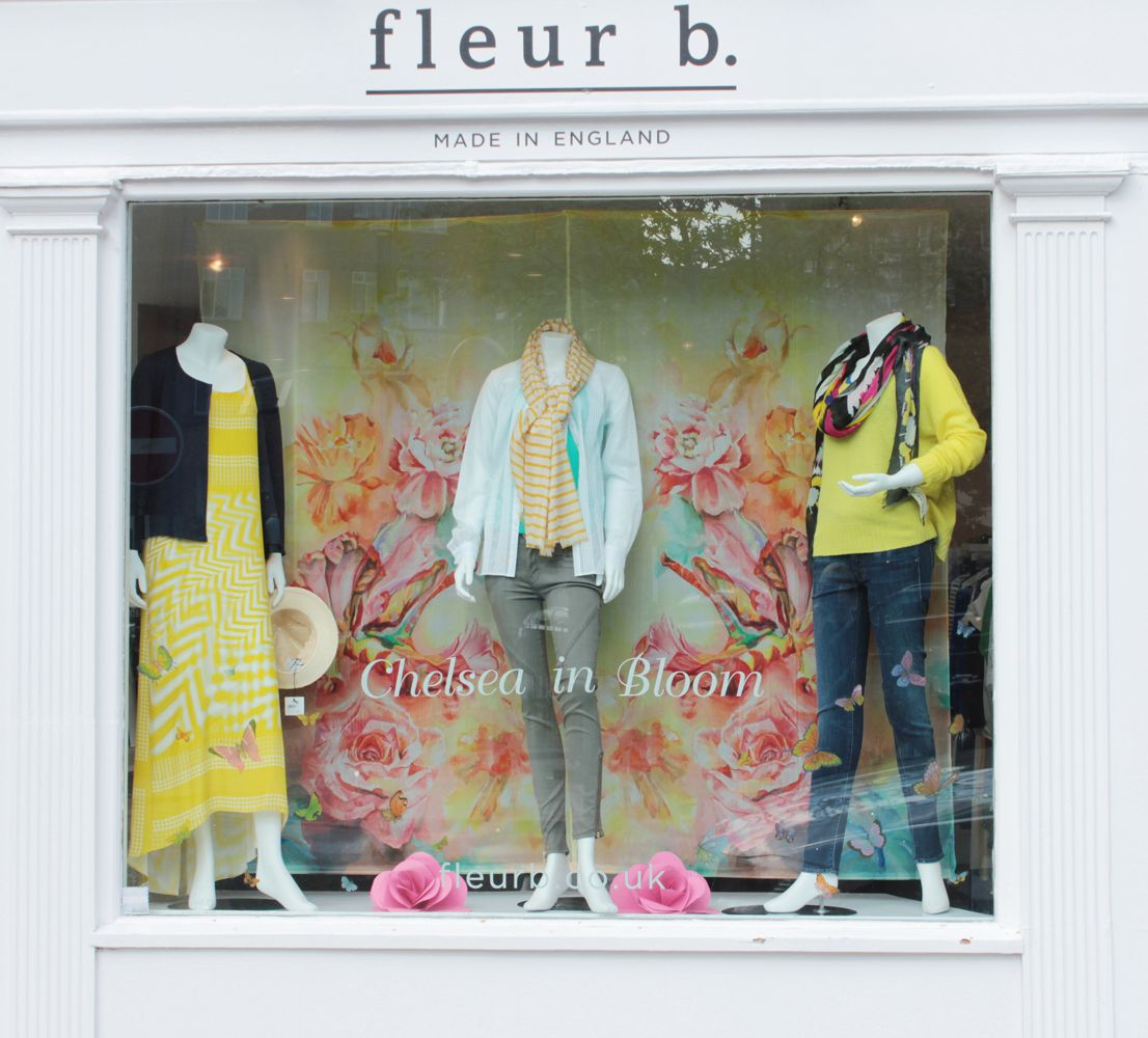 fleur b. boutique in chelsea green - May window display