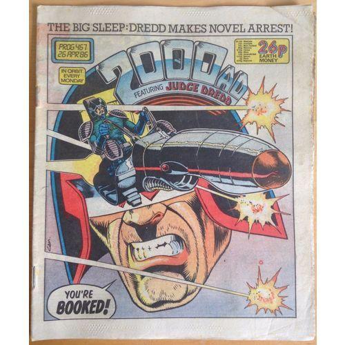 2000 AD #467 1986 UK Paper Sci Fi Comic