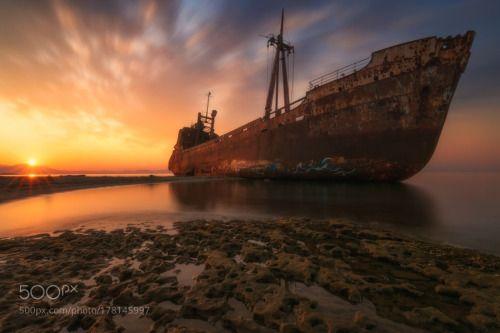 RestleSs Soul  V by stratosgaz  sunrise greece travel light shipwreck fineart gythio dimitrios laconia Peloponnese valtaki wbpa Rest