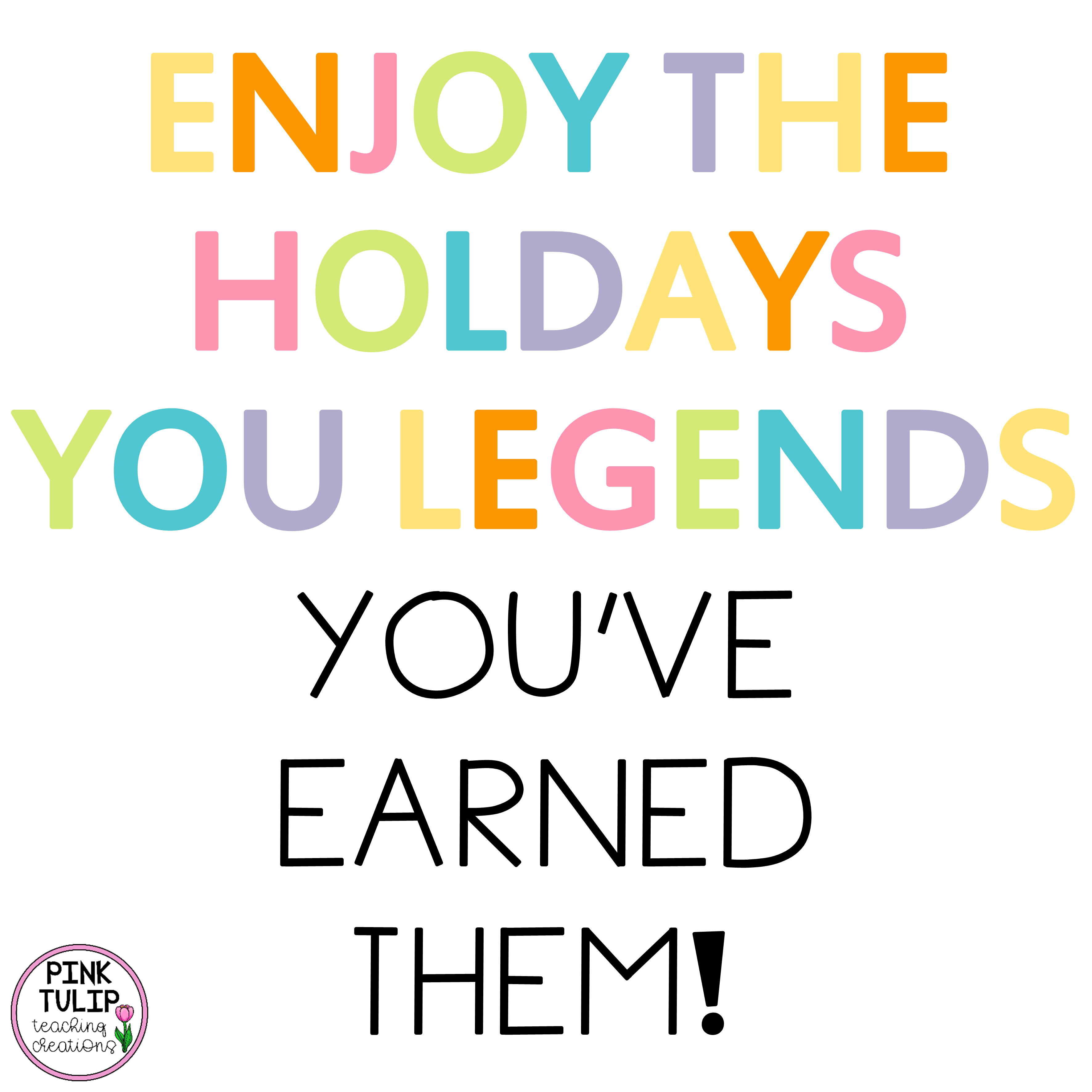 Enjoy The Holidays You Legends Pink Tulip Creations