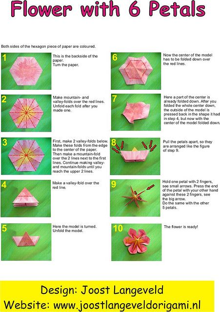 Origami flower diagrams paper craft pinterest diagram amazing work again pink flower diagrams by joostlangeveld mightylinksfo