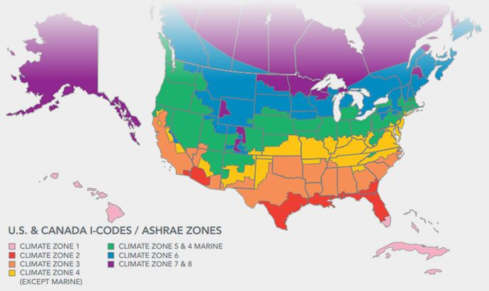 Climate Zone Map Sus Sys Pinterest - Map insulation