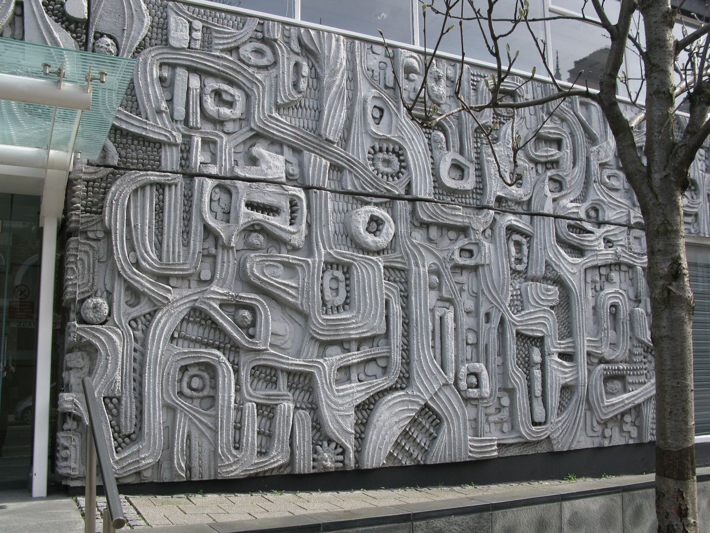 Concrete Wall Art : William mitchell cement wall relief liverpool uk