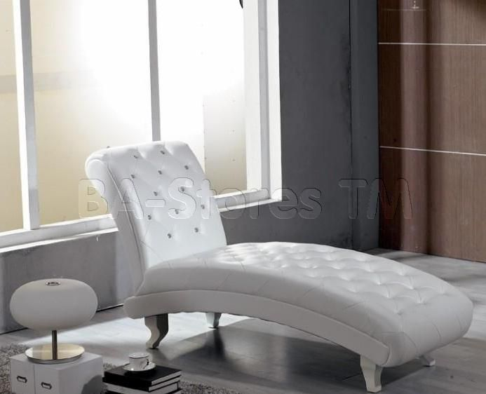 Chaise lounges : white tufted chaise lounge - Sectionals, Sofas & Couches