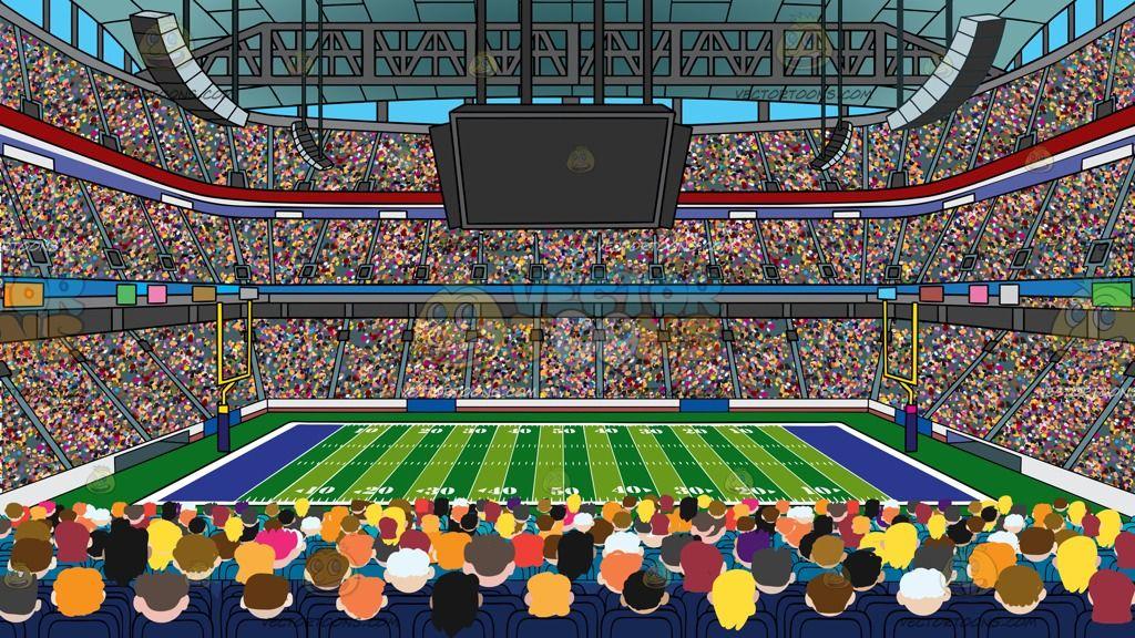 A football stadium background a 3 tier football stadium