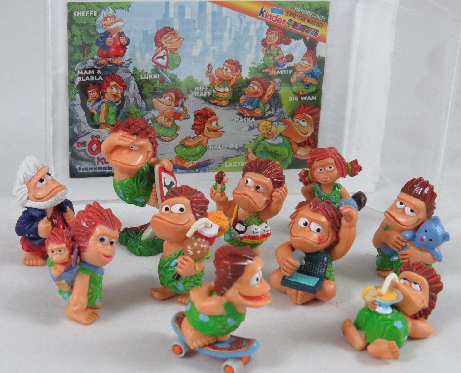 Kinder Surprise Ferrero Toy Egg Figures Cavemen Full Set