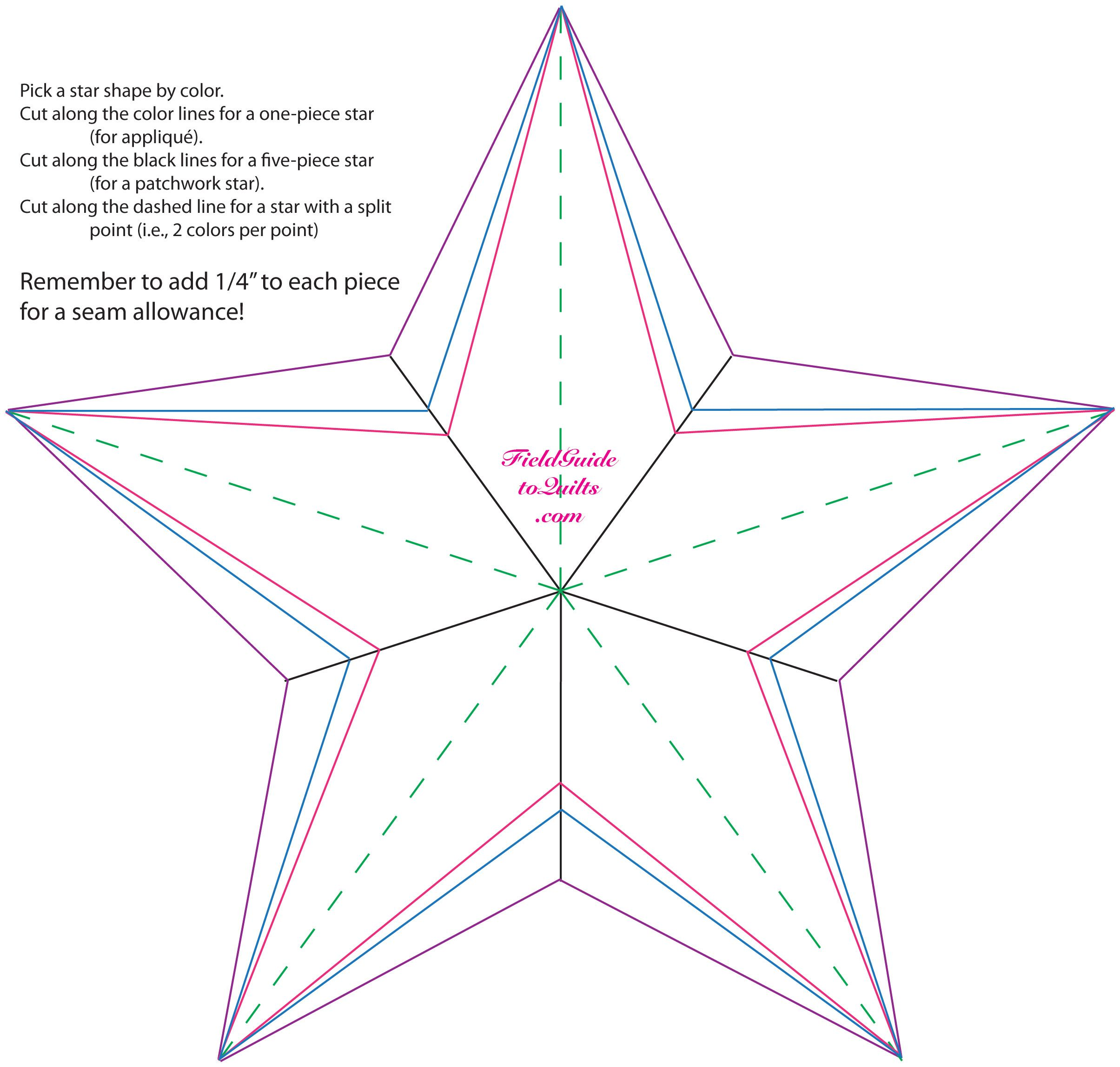 small resolution of 5 point star quilt mockups