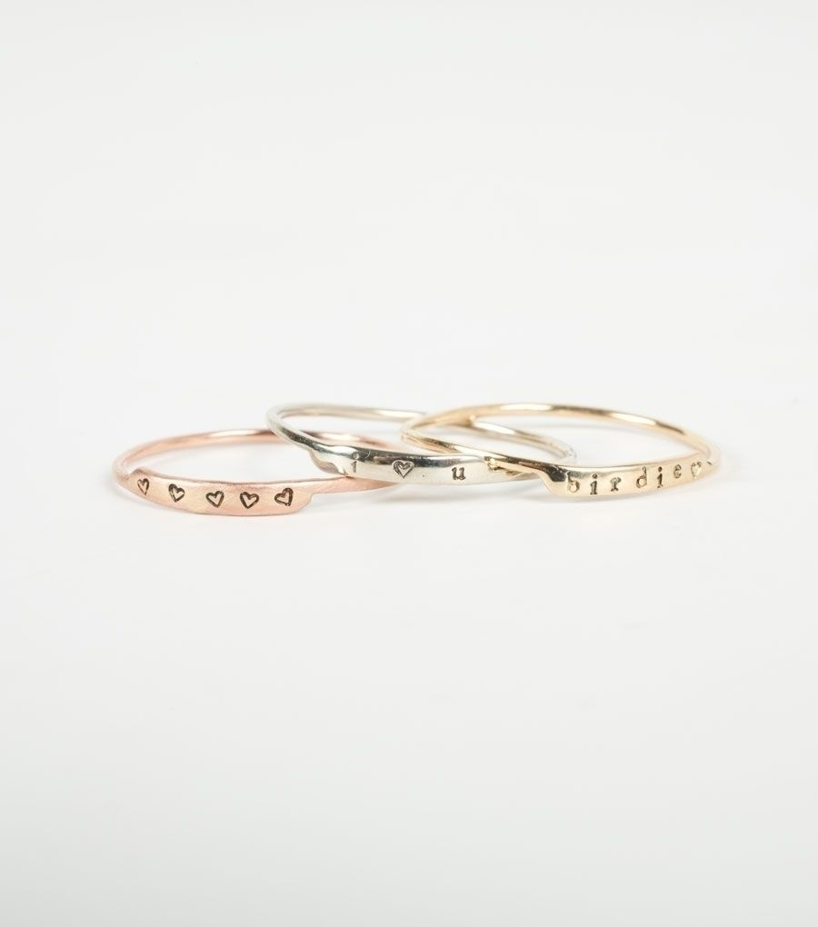 Famous Letter Ring  Rose Gold Matte Finish Letter D Heart K