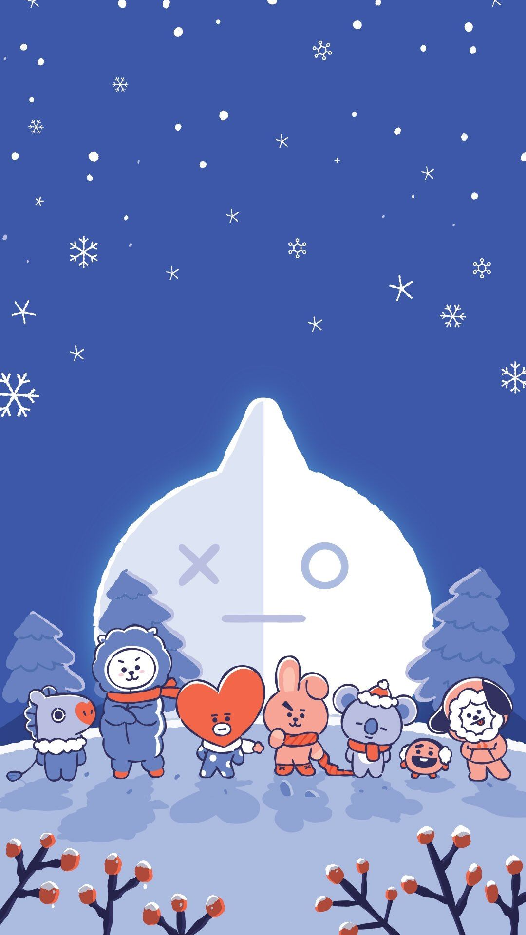 Hot Or Cold It Doesn T Matter Wherever You Are Bt21 Will Make Your Days Special Come And Get Bt21 S Bts Christmas Bts Wallpaper Wallpaper Iphone Christmas