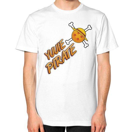 Yuuie Pirate Crew Unisex T-Shirt (on man)