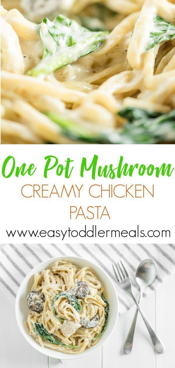 One Pot Mushroom Chicken Pasta images