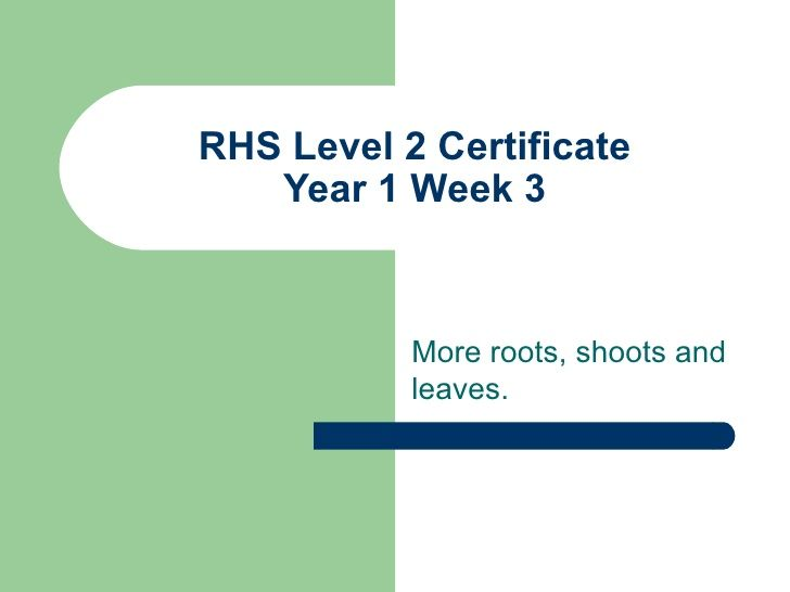 RHS Level 2 Certificate Year 1 Session 3 | Rhs, Plant cell ...