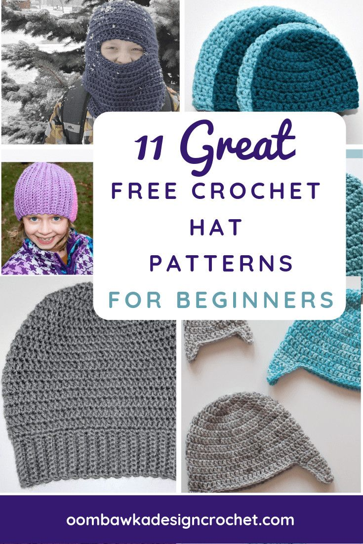11 Great Free Crochet Patterns for Beginners | Crochet hats and ...