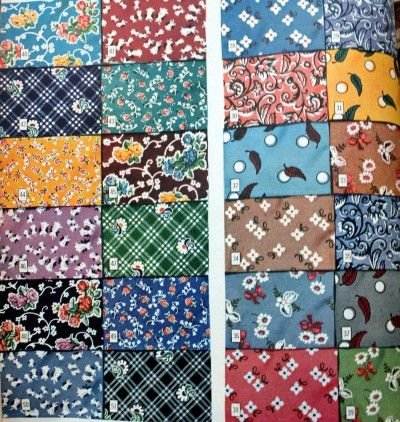 1940s Fabrics And Colors In Fashion Vintage Fabric Prints Printing On Fabric Retro Fabric
