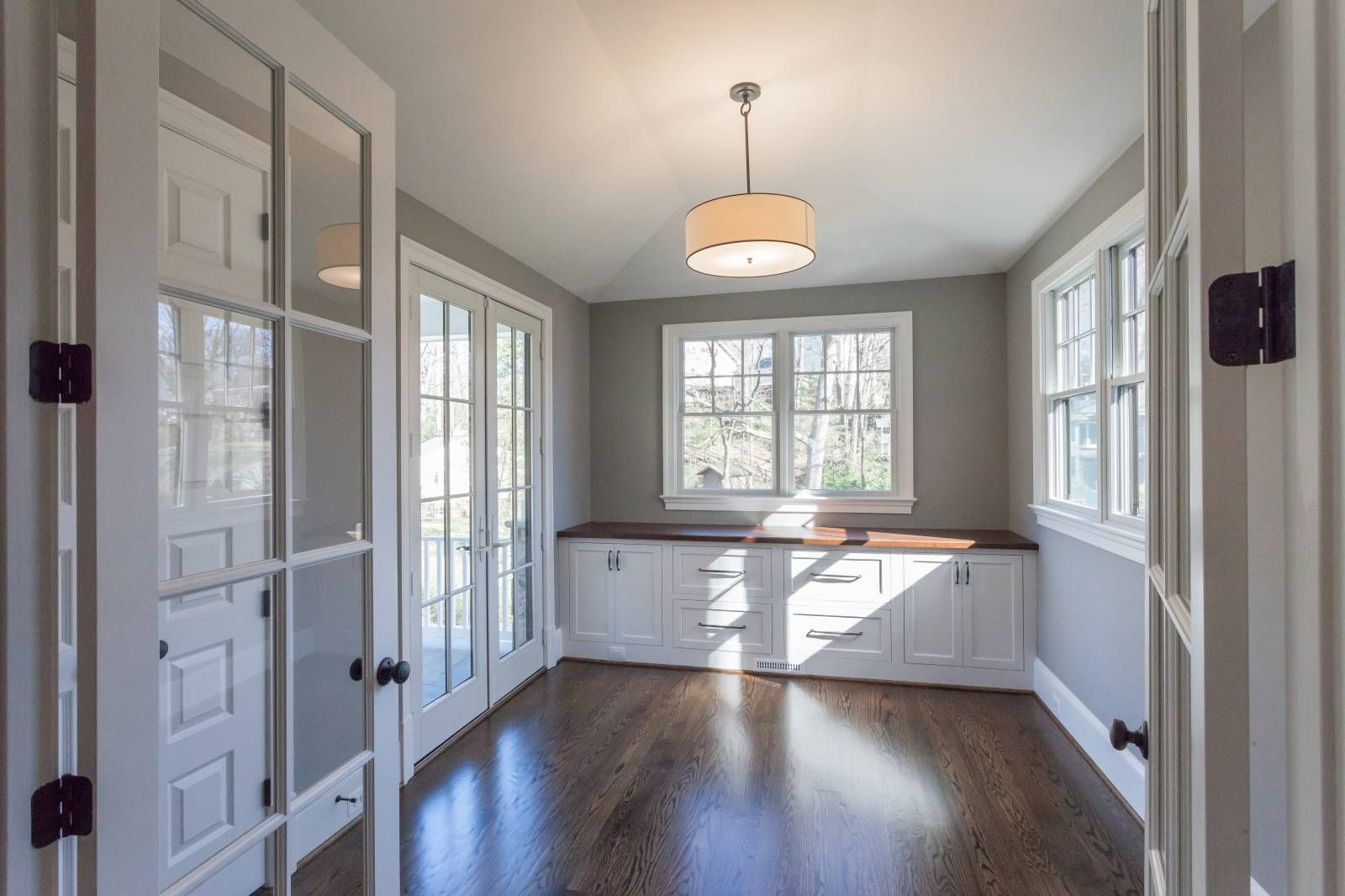 built in cabinet is light filled study in custom home by bcn homes rh pinterest com