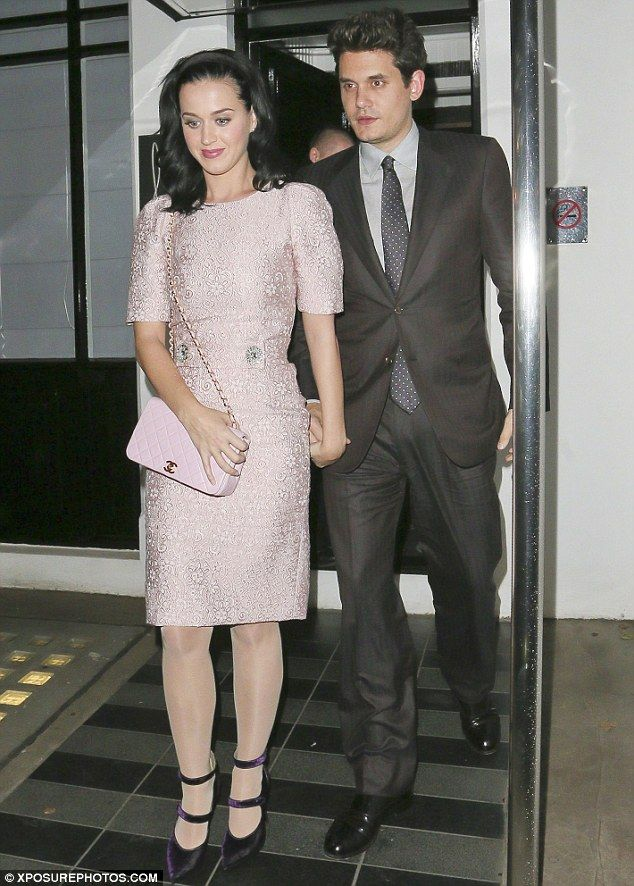Katy Perry and John Mayer pictured in London, Oct 2013