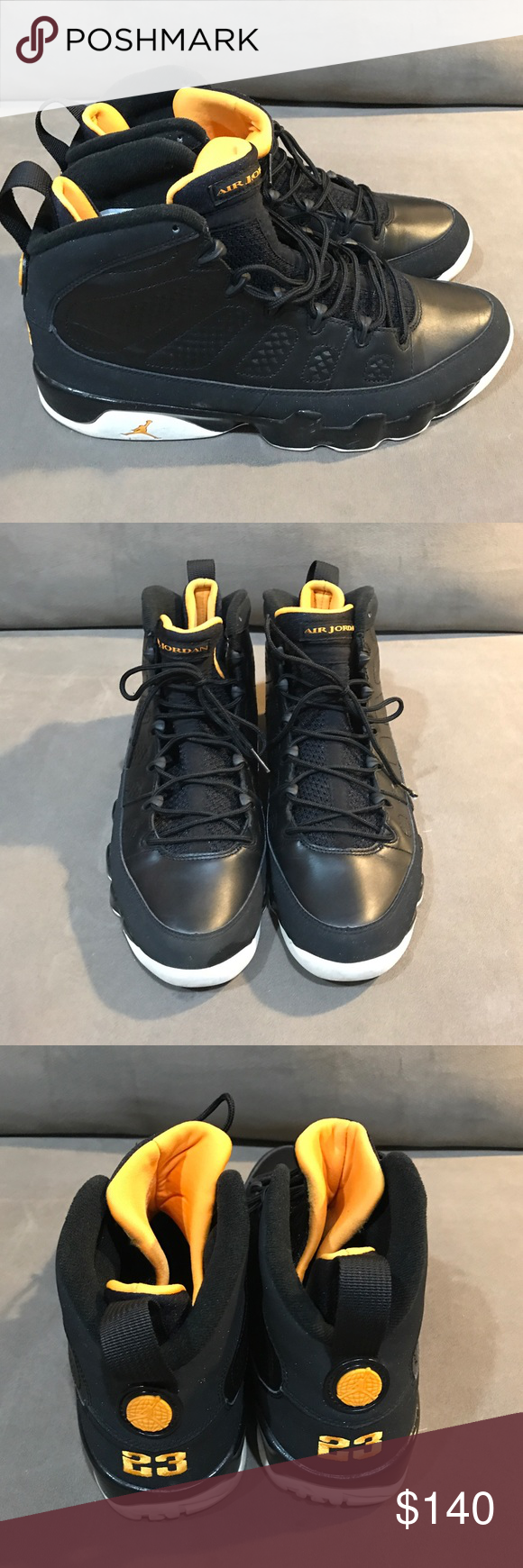 separation shoes a3525 26b4e Air Jordan Retro 9 (Citrus) Size 10.5 Black, Citrus, White. Good condition. Nike  Shoes Sneakers