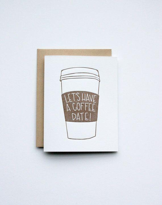 Coffee Date | Letterpress Printed Greeting Card