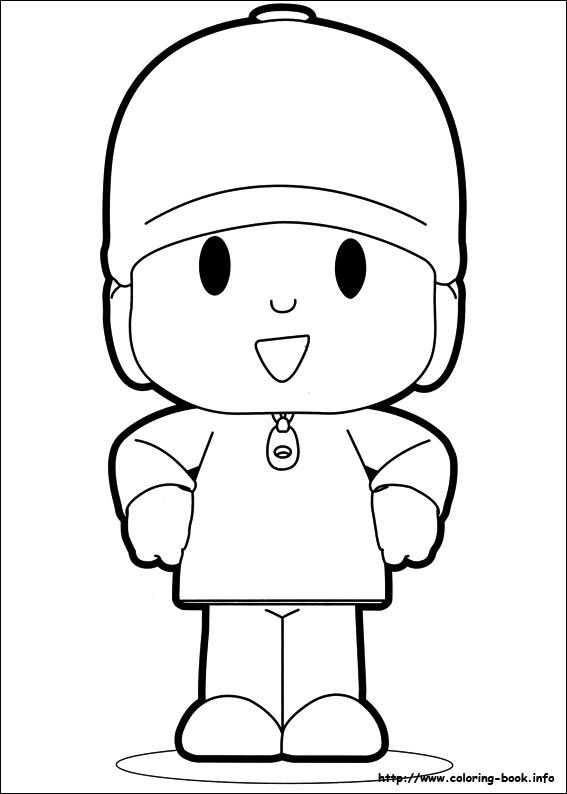 pocoyo coloring picture birthday party