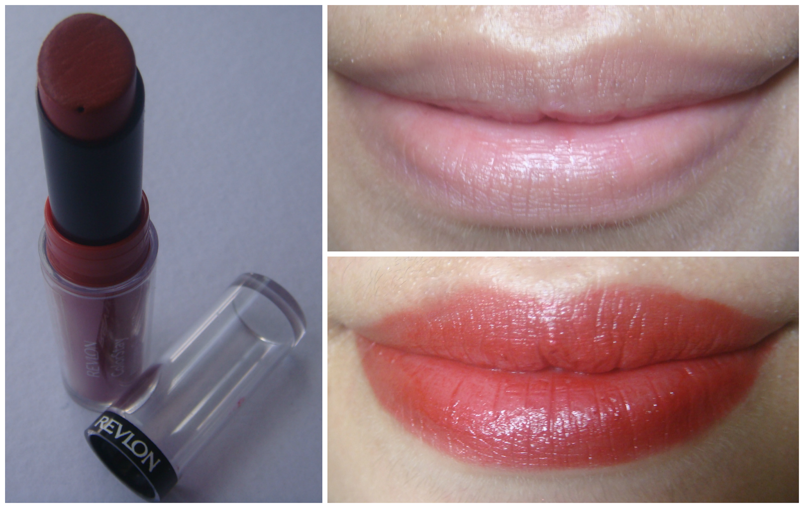revlon ultimate suede fashionista - slight browny red on me ...