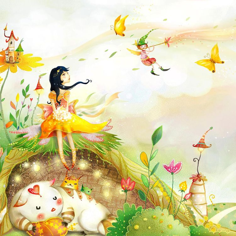 Image Result For Cartoons Fairy Wallpaper Cheap White Wall