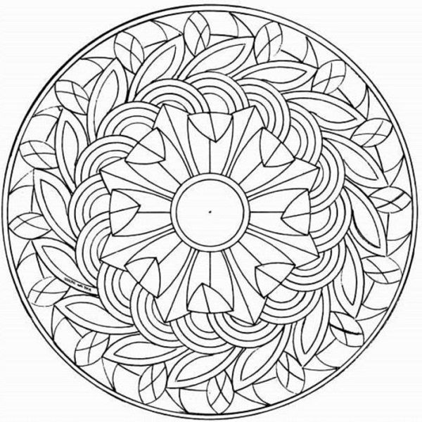 Fun Coloring Pages For Adults | Drawings - Mandalas | Pinterest ...